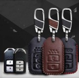 Sale Honda Cr V Xr V Jazz Accord Crosstour Fit Vezel City Jade Lingpai Leather Key Case(Style A Black Line) Intl Online China