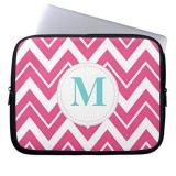 Hot Pink Chevron Laptop Sleeves Notebook Cover For 13 Inch Intl Promo Code