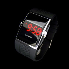 Hot Style Fashion Digital Led Wrist Watch Wristwatch Gifts For Kid Boys Men (black) By Your Bestchoice.