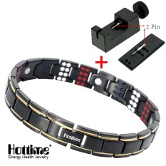 Brand New Hottime 109 Pcs Bio Elements Energy Stone 3500 Gauss Magnetic Therapy Germanium Bracelet 4 In 1 Men S Fashion Health Jewelry 10155 Intl