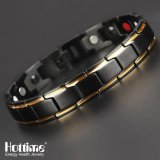 Wholesale Hottime 4 In 1 Magnetic New Fashion Lovers Jewelry Steel Black Gold Titanium Bracelet For Women And Men Never Fade Top Quality 10089 Intl