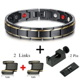 Hottime Black Men S Health Bracelets Bangles Magnetic H Power Stainless Steel Charm Bracelet Jewelry For Man 10087E Intl Coupon