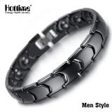 Buy Hottime Black White Bio Elements Energy Ceramic Bracelet Bangle Lovers Magnetic Germanium Health Chain Charms Women Men Jewelry Hottime Cheap