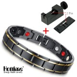 Buy Hottime Luxury Fashion Health Energy Bracelet Bangle Men 316L Stainless Steel Bio Magnetic Bracelets Black Gold Plated Jewelry Intl Online