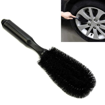 iBelieve Car Tire Cleaning Brush Round Head Steel Fluid Brush Car Cleaning Tool