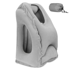 Inflatable Travel Pillow Cushion Innovative Airplane Pillows Neck Pillow Travel Chin Head Support Office Desk Nap Pillow Grey Intl Shopping