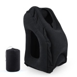 Buy Inflatable Travel Pillow For Airplanes Camping Office Multifunction Air Desk Nap Pillow Neck Pillow With Full Body Chin Head Support Comfortable Bolster Car Pillows For Sleeping Bedding Pillows Black Intl Cheap On China