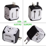 International Travel Power Adapter With 2 4A Dual Usb Charger Worldwide Ac Wall Outlet Plugs For Uk Us Au Europe Asia Built In Spare Fuse Gift Pouch Intl Compare Prices