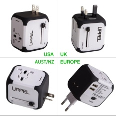 Cheaper International Travel Power Adapter With 2 4A Dual Usb Charger Worldwide Ac Wall Outlet Plugs For Uk Us Au Europe Asia Built In Spare Fuse Gift Pouch Intl