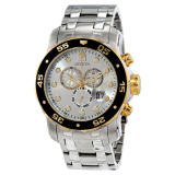 Review Invicta Mens Pro Diver Scuba Swiss Chronograph Silver Dial Stainless Steel Bracelet Watch 80040 Export Intl Not Specified On South Korea
