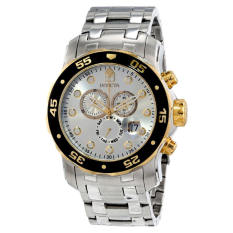 Invicta Mens Pro Diver Scuba Swiss Chronograph Silver Dial Stainless Steel Bracelet Watch 80040 Export Intl On South Korea