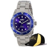 The Cheapest Invicta Pro Diver Men 40Mm Case Silver Stainless Steel Strap Blue Dial Automatic Watch 9094 And Baseball Cap Hat Export Online
