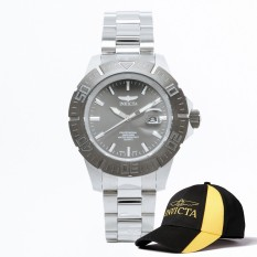 Cheapest Invicta Pro Diver Men 44Mm Case Silver Stainless Steel Strap Gunmetal Dial Quartz Watch 14050 Baseball Cap Hat Online