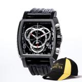 Invicta S1 Rally Men 48Mm Case Black Leather Strap Black Dial Quartz Watch 20248 Sale