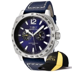 How To Get Invicta Specialty Men 44Mm Case Blue Leather Strap Blue Dial Quartz Watch 0854 W Cap Intl
