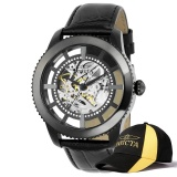 Compare Invicta Vintage Men 45Mm Case Black Leather Strap Black Dial Automatic Watch 22572 W Cap Intl Prices