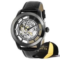 Invicta Vintage Men 45Mm Case Black Leather Strap Black Dial Automatic Watch 22572 W Cap Intl Best Buy