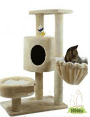 Who Sells The Cheapest Ivory Color Cat Climbing Tree With Side Bowl Online