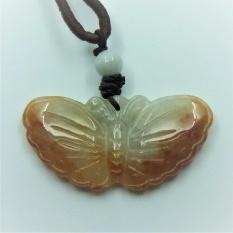 Jade 1314 Butterfly Dual Colour Jade Pendant 蝴蝶双色红玉坠 By Win Heng Jewellery.