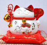 Best Offer Lucky Coin Bank Savings Bank Ceramic Cat Japanese Style Lucky Cat