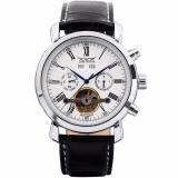 Jaragar Luxury Men S Black Leather Automatic Mechanical Date Day Sport Wrist Watch Pmw017 Intl Lowest Price