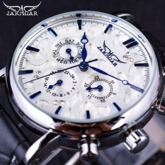 Buy Jaragar Obscure Swirl Fashion 3 Dial Design Diamond Black Golden Dial Genuine Leather Men Watch Top Brand Luxury Automatic Watch Intl Cheap On China