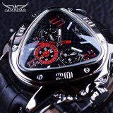 Retail Price Jaragar Sport Racing Design Geometric Triangle Design Genuine Leather Strap Mens Watches Top Brand Luxury Automatic Wrist Watch Intl