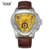 Price Jaragar Sport Uhr Design Geometric Triangle Design Leather Strap Mens Watches Top Brand Luxury Automatic Mechanical Wristwatch Intl China