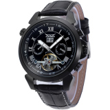 Discount Jargar Forsining Automatic Dress Watch With Black Leather Strap Gift Box Jag057M3B2 Black Intl Jargar On China