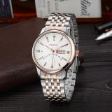 Jiechuan A Point On Behalf Of Geneva White Rose Gold Watch Strap Quartz Watch Men Simple Luxury Watches Wholesale White Price