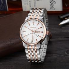 How To Get Jiechuan A Point On Behalf Of Geneva White Rose Gold Watch Strap Quartz Watch Men Simple Luxury Watches Wholesale White