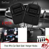 Sale Jvgood 2 Psc Car Backseat Organizer Pu Leather Auto Back Car Seat Organizer Holder Pocket Storage Kick Mats With 4 Hooks Black Jvgood