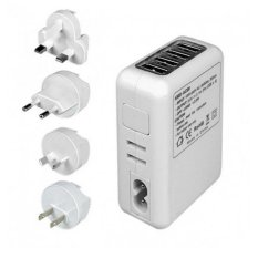 Price Compare Kcmall 4 Usb Ports Ac Universal Travel Wall Adaptor Charger With 4 Ac Intl