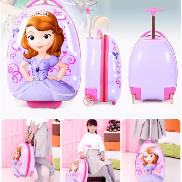 Cartoon Kids Luggage 16 inch Travel Suitcase Bag  (Princess Sofia)
