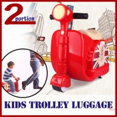 Kids Trolley Luggage - Red By 2 Portion.
