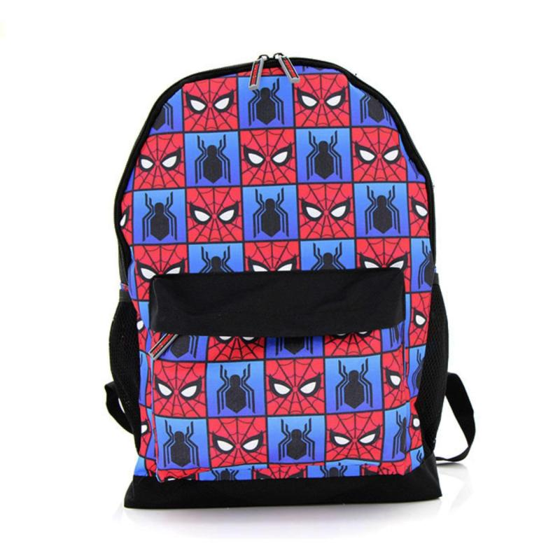 "Kidztime X Marvel SpidermanChildren Cartoon Character 16"" Backpack School Bag For Boys – Waterproofed School Backpack – Lightweight Bags – Ergonomic Extra Padded Shoulder Straps – Ergonomic Back Support – Eco Friendly Material"