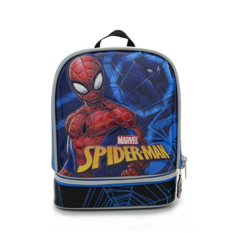 Kidztime x Marvel Spiderman Children Kids Cartoon Character Lunch bag For Boys kids-Waterproofed School Backpack-Lightweight Bags-Ergonomic Back Support-Eco Friendly Material