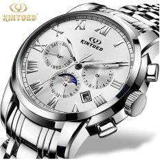 Kinyued Top Brand Mechanical Watch Luxury Men Business Watchs Stainless Steel Band 3Atm Waterproof Calendar Function Mens Famous Male Watches Clock For Men Wrist Watch Intl Price Comparison