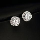 S925 Simple Diamond Set Japanese And Korean Style Female Elegant Earrings Stud Discount Code