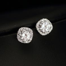 Review S925 Simple Diamond Set Japanese And Korean Style Female Elegant Earrings Stud Oem