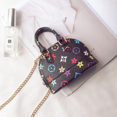 Korean Style Childrens Bag New Style Fashion Girls Cross-body Small Bag Cute Mini Princess Chain Bag Printed Shell Bag