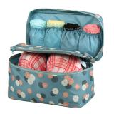 Best Rated Lady S Printing Pattern Makeup Case Cosmetic Hand Bag Tool Storage Toiletry Pouches Blue Intl