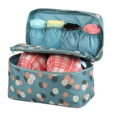 Compare Lady S Printing Pattern Makeup Case Cosmetic Hand Bag Tool Storage Toiletry Pouches Blue Intl