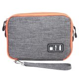 Lalang Waterproof Double Layer Travel Digital Storage Bag Electronic Accessories Pouch Organizer L Grey Compare Prices