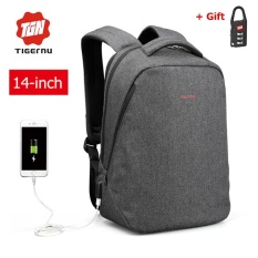 Retail Lan Store Tigernu Waterproof Oxford 14 Inch Laptop Backpack With External Usb Charging Port Business Backpack Large Capacity Travel Bag Anti Theft Sch**L Bag Intl