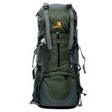 Large Capacity Waterproof Nylon Backpack Mountaineering Green In Stock