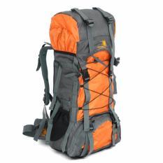 Large Hiking Camping Backpack Outdoor Sports Bag Waterproof Backpack 47L Orang On Line