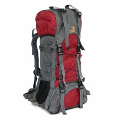 For Sale Large Hiking Camping Backpack Outdoor Sports Bag Waterproof Backpack 47L Red