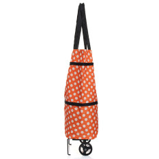 Large Lightweight Shopping Trolley Wheel Wheeled Folding Luggage Bag Cart Orange By Channy.
