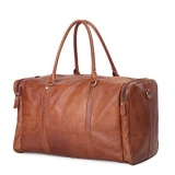 Leathario Mens Will Leather Duffle Luggage Weekend Overnight Shoulder Messenger Bag Intl Reviews